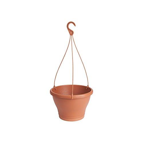 Elho Corsica hanglamp 30 - bloempot - antraciet - buiten & balkon 30 cm rood