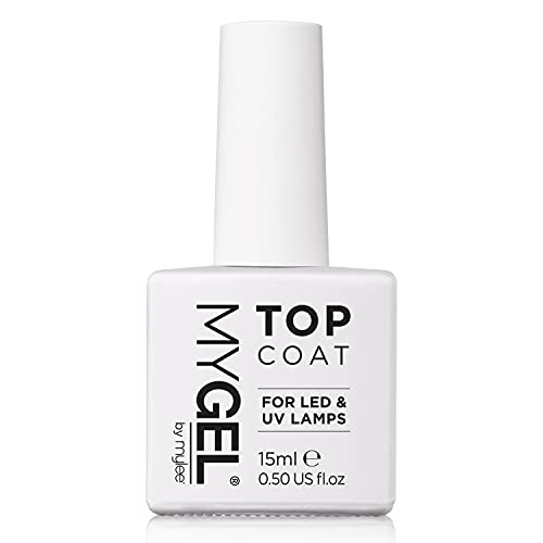 Mygel by Mylee Top Coat per Smalto gel semi-permanente 10 ml UV LED soak off nail art manicure pedicure per uso professionale e domestico