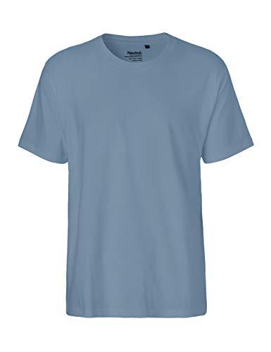 Green Cat Camiseta para hombre, 100% algodón orgánico. Certificado de comercio justo, Oeko-Tex y Ecolabel. añil XXL