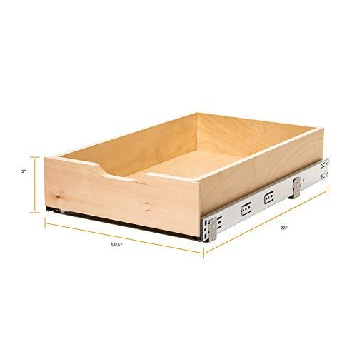 Knape & Vogt RS-WMUB-14-4-AS 5 in. H x 14.88 in. W 22 in. D Soft-Close Wood...
