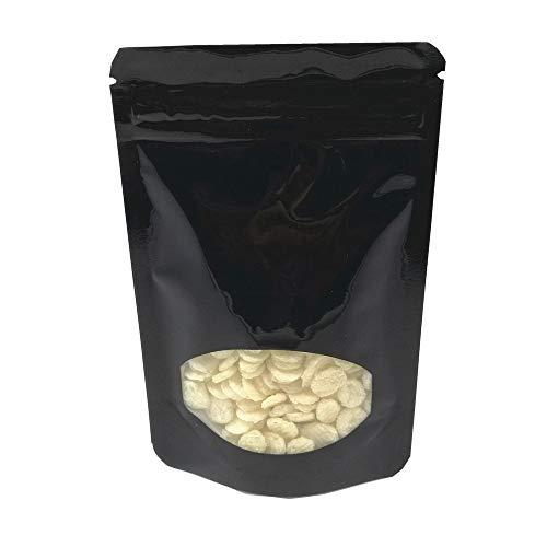 100 bolsas de plástico transparente para ventana de almacenamiento de alimentos, bolsa de aluminio para caramelos, baño, sal, cierre de cremallera, cierre resellable (10,9 x 16...