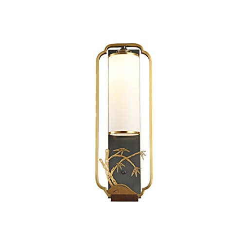 GYC Todo el Cobre Chino Lámpara de Pared Sala de Estar TV Lámpara de Pared Estilo Chino Lámpara de Hotel de Pasillo de Estilo Chino atmosférico LED Simple.