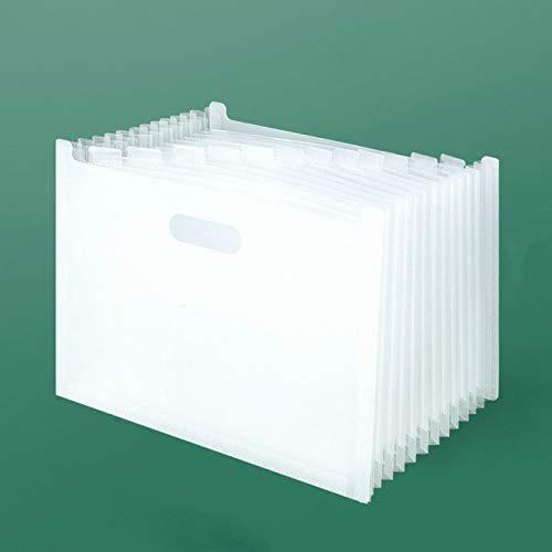 Carpeta de archivos de acordeón Carpeta de archivos de escritorio Organizador de papel para documentos Soporte de almacenamiento Caja de expansión multicapa Papelería de oficina escolar