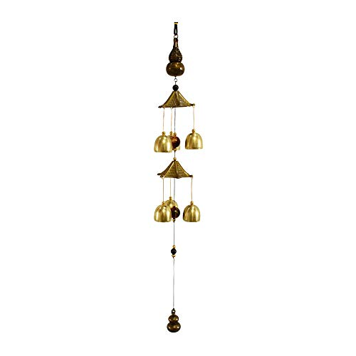 Bronze Wind Chime Retro Antique Copper Bell Hanging Decoration for Home...