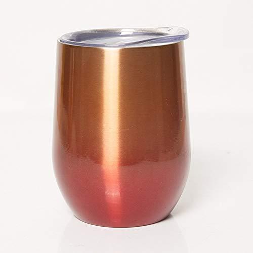 Heliansheng Taza cáscara de Huevo Taza de Vino de Acero Inoxidable de 12 oz, Huevera rociada de plástico, Taza de Cerveza al vacío -H31-12oz-G1276