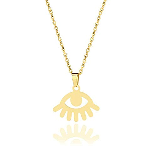 NC56 Stainless Steel Minimalist Jewelry Evil Eyes Pendant Necklace The Devil s Eye choker party gift