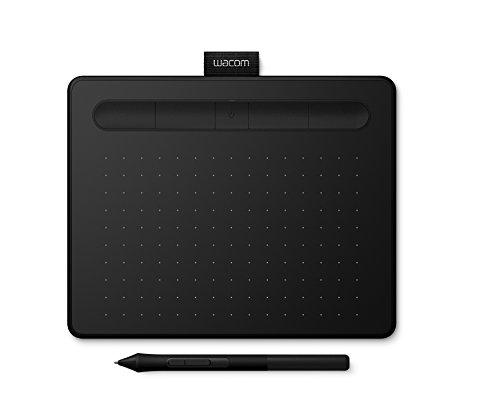 Wacom Intuos S Tavoletta Grafica Bluetooth, Wireless, con Penna per Dipingere, Disegnare ed Editare Foto con 2 Software Scaricabili, Windows & Mac, Nero - Adatta per L Home Office e L E-Learning