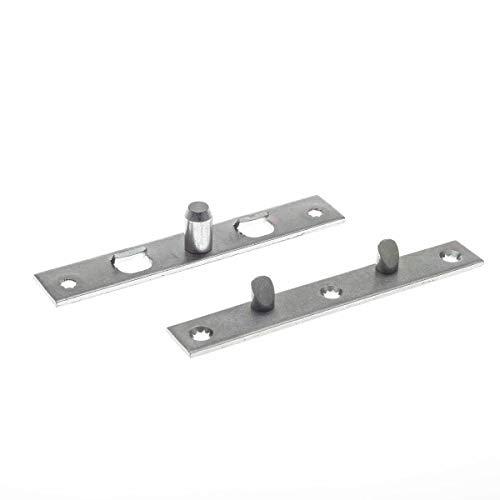 Simonswerk Aushebesicherung für Türen, Türblattsicherung-Set, eckig, stahl verzinkt silberfärbig, hochwertig- und stabiler Einbruchschutz