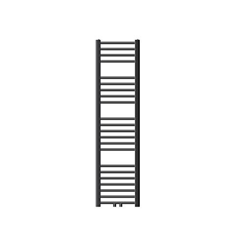 ECD Germany Radiador de toallas Sahara - 300 x 1400 - Antracita - plano - con conexión central - Radiador de diseño moderno