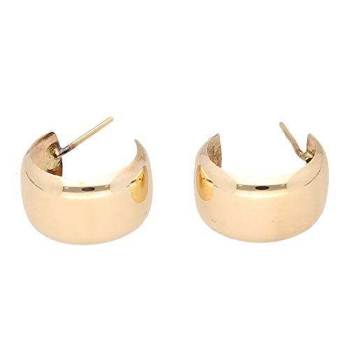 Pendientes de oro amarillo de 9 quilates para mujer (9 mm de ancho)   El regalo perfecto para una dama especial   Jollys Jewellers