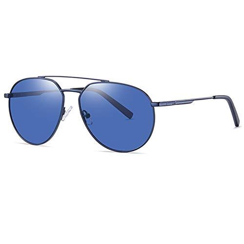 FDSJKD 2021 New Sunglasses Men's Polarizing Mirror Metal Fashion Sunglasses Two-color Glasses Men Women Unisex Polarised Protection Driving (Lenses Color : C89 P86)