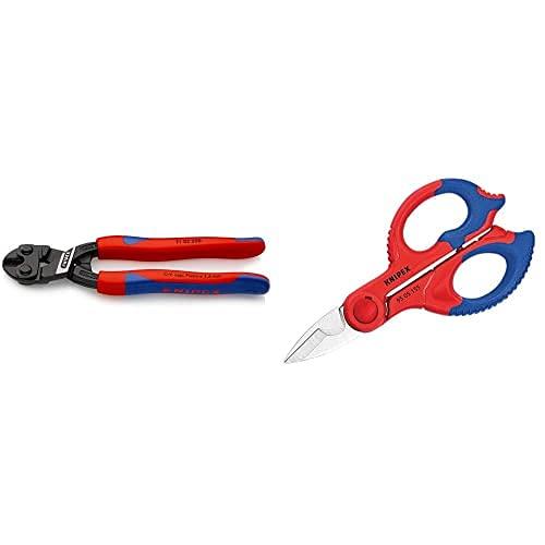 Knipex Cobolt Cortabulones Compacto (200 Mm) 71 02 200 + Tijeras Para Electricistas (155 Mm) 95 05 155 Sb (Cartulina Autoservicio/Blíster)