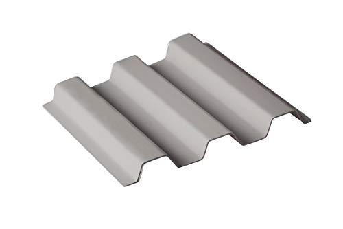 Sollux® PVC Profilplatten Trapez 70/18 opak-grau 1095mm(B) x 2500mm(L)