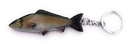 H-Customs Karpfen Fisch Angeln Holz Edel Handmade Schlüsselanhänger Anhänger