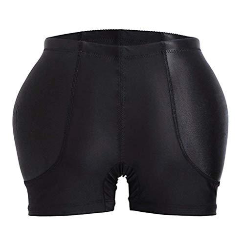 MXY Women Control Panty Fake Butt Lifter Padded Shapewear Fake Ass Control Panties Body Shaper Underwear (Black-S)