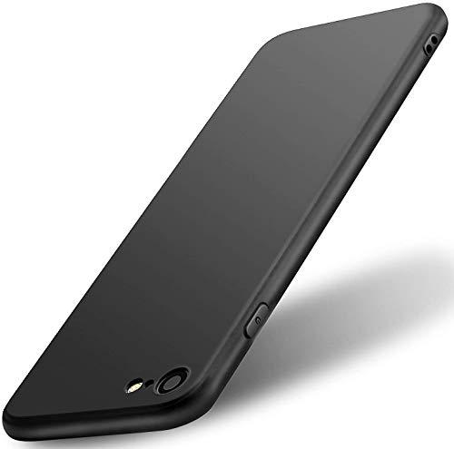 wsiiroon Hülle Kompatibel mit iPhone 6/6S, Ultra Dünn Handyhülle, Anti-Kratz Rückseite TPU Silikon Case, Stoßfeste und Staubschutz Silikonhülle, Schutzhülle für iPhone 6/6S (Schwarz)