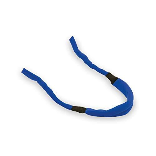 DISOK Lote de 100 cintas para gafas multiusos 2 en 1 en resistente microfibra en color azul. Cordones para gafas económicos. …
