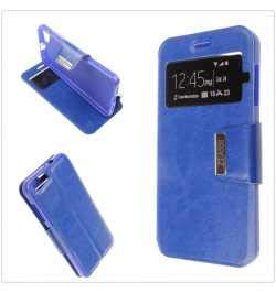 MB ACCESORIOS Funda Tapa Libro Azul para ZTE Blade A506 - Interior. Silicona