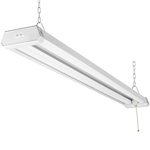 MaxLite 4FT Utility LED Shop Light Linkable, 4300 Lumens, Daylight 5000K, Pull Chain (On/Off), 42W Garage Light, Integrated LED Lights, Plug in Cord, Suspension or Surface Mount