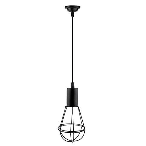 MagiDeal Lampshade Vintage de Décoratrion Abat-jour de Plafond Applique Décor Noir - Noir, 1# Grenade 20 x 10 cm
