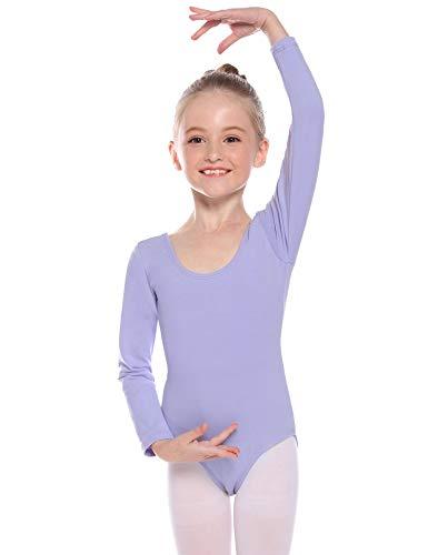 Hawiton Maillot de Gimnasia Ritmica niña 2-12 Años,algodón Elástico de Ballet Body...