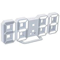 3D LED Digital Alarm Clock, Table Alarm Clock, Manually & Auto Adjust Brightness, Easy to Read at Night, Perfect for Home Decor/Living Room/Bedroom/Office