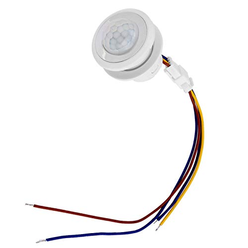 Detector de haz de infrarrojos, MR-HW06A / MR-HW08F Interruptor de control de sensor de movimiento infrarrojo automático LED de 1-40W(MR-HW08F)