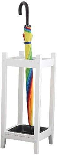 XUSHEN-HU Paragüero de madera maciza soporte para paraguas para el hogar creativo corredor almacenamiento rack (blanco 66 x 22,5 x 28 cm)