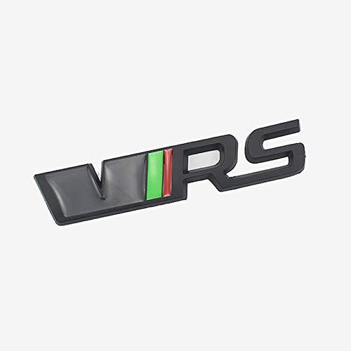 D28JD VRS Logo Emblem für Heckklappe Heckklappen Stamm Metallbuchstaben Aufkleber für Skoda,Schwarz