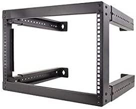 Vertical Cable 6U Open Wall Mount Frame Rack - Adjustable Depth 18