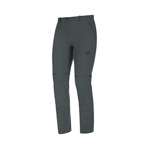 Mammut Damen Wander-Hose mit Reissverschluss Runbold Zip Off, grau, EU 36 kurz