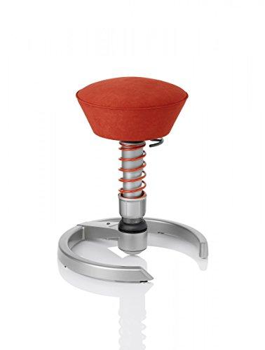 Aeris CLASSIC 3D-Aktiv-Bürodrehstuhl swopper | Basis: Titan | flexibel & fördert aufrechte Haltung | ergonomischer Bürostuhl / 3D-Aktiv-Sitz, Stoffmuster:Ferraro-Rot