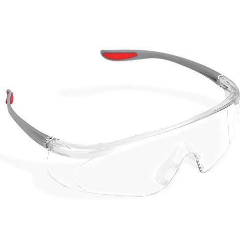 Gafas de seguridad antirrayas, Gafas de seguridad Gafas transparentes con lentes antirrayas Protección ocular para hombres Gafas de trabajo industrial para el trabajo