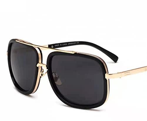 Gafas de sol polarizadas con marco de metal para mujer, marco grande, protección 100% Uv400, A6.,