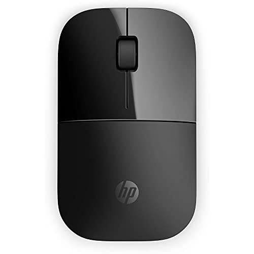 HP -  PC Z3700 Ratón inalámbrico,  Sensor preciso,  tecnología LED Azul,  1200 dpi,  3 Botones,  Rueda de Desplazamiento,  Receptor USB inalámbrico de 2, 4 GHz Incluido,  diseño práctico y cómodo,  Color Negro
