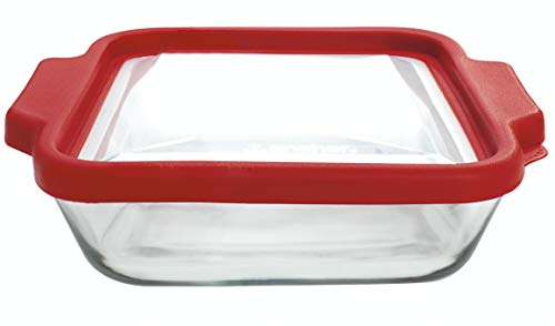 8-InchSquare Glass Baking Dish with Lid