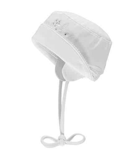 Döll baby meisjes muts UV-bescherming vlinder White Chic