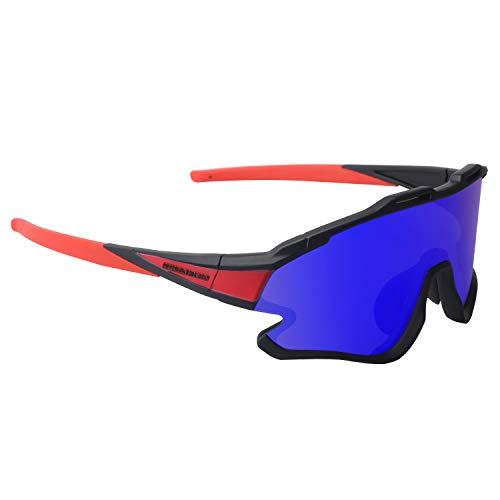 GIEADUN Gafas Ciclismo Polarizadas con 3 Lentes Intercambiables UV 400 Gafas,Corriendo,Moto MTB...