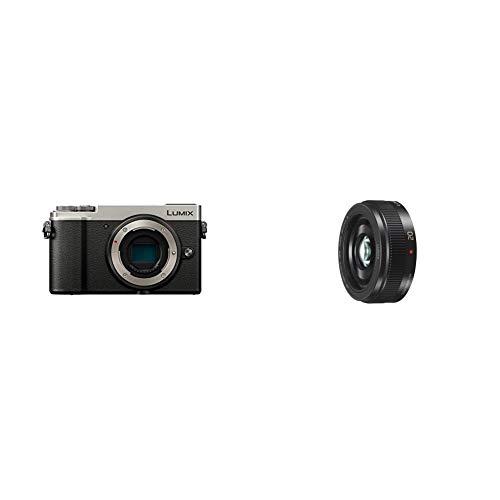Panasonic Lumix GX9 | Appareil Photo Hybride Compact (Capteur 4/3 20MP, Double stabilisation) Silver & Lumix 20mm F1.7 | Objectif à focale Fixe H-H020AE-K (Grand Angle 20mm, equiv. 35mm : 40mm) Noir