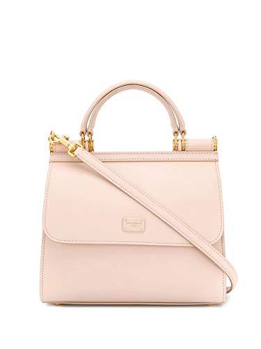 Luxury Fashion | Dolce E Gabbana Donna BB6622AV38580412 Rosa Pelle Borsa A Mano | Stagione Permanente