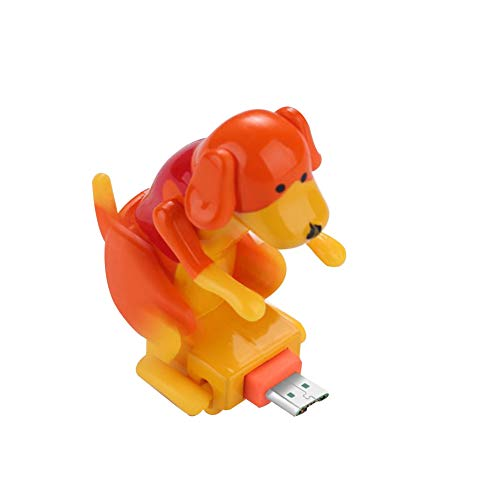 Aland Cute Humping Dog USB Data Charger Cable Charging Cord for Android Smart Phone Orange Forward Direction