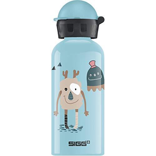 SIGG Monster Friends Kinder Trinkflasche (0.4 L), schadstofffreie Kinderflasche mit auslaufsicherem Deckel, federleichte Trinkflasche aus Aluminium