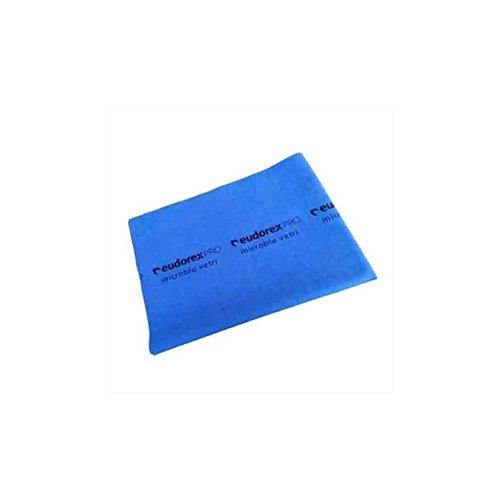 Eudorex MICROBLU VETRI Panno per Pulizia vetri 40x53 cm 4x5pz + 1x5 Omaggio