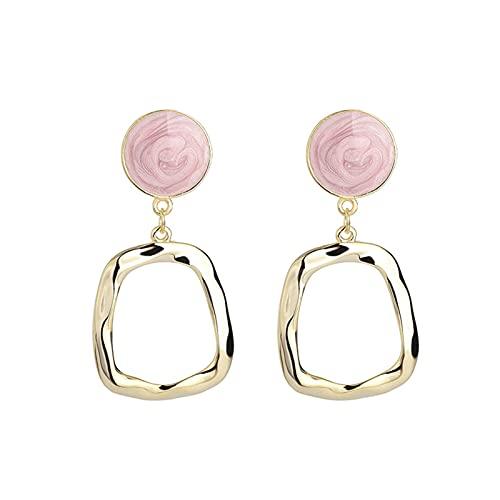 Irregular S925 Silver Ear Nail Pendientes De Plata Esterlina Pendientes Personalidad Pendientes Simples Mujeres (Color : Gold, Size : A Pair)