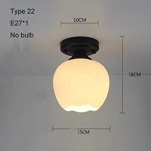 Luces de techo modernas LED Lámpara de techo Jaula Plafonnier Lámpara de cristal para comedor Cocina (Body Color : Type 22 no bulb)