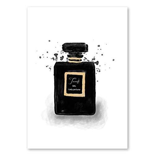 TOKKQ Rompecabezas de Madera para descompresión para Adultos Juguete Educativo Rompecabezas de 1000 Piezas para Regalo de cumpleaños para niños póster HD de Perfume con Pinturas nórdicas,75x50cm