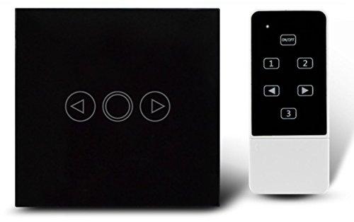 Preisvergleich Produktbild Dimmer Schalter EU Standard Wandschalter,  Crystal Glas Panel,  1 Gang 1 Way Wandleuchte Remote Touch Dimmer Schalter