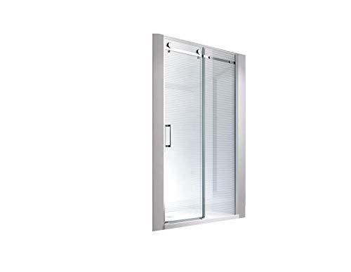 Glaszentrum Hagen - 8 mm | 195cm Höhe | Nischen- | Schiebetür | Duschtür | Nischentür | Duschwand | Dusche | Nischendusche | Schiebesysteme | ESG-Klarglas (105x195cm)