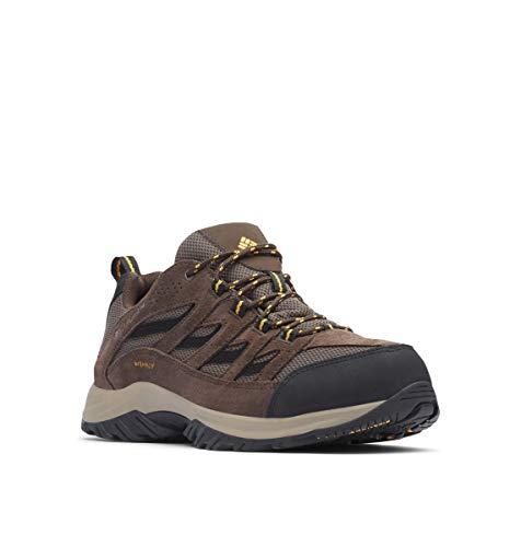 Columbia Crestwood - Zapatillas de Senderismo para Hombre, Impermeables, Anchas, Barro/Squash, 16 W US