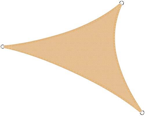 Cool Area Toldo Vela de Sombra Triángulo Rectángulo 5 x 5 x 7.1 Metros Protección Rayos UV, Resistente y Transpirable para Patio Exteriores Jardín, Color Arena